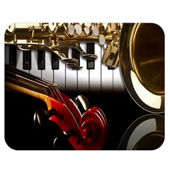 Classical Music Instruments Double Sided Flano Blanket (Medium)