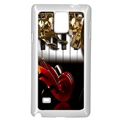 Classical Music Instruments Samsung Galaxy Note 4 Case (White)