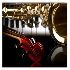 Classical Music Instruments Large Satin Scarf (Square)