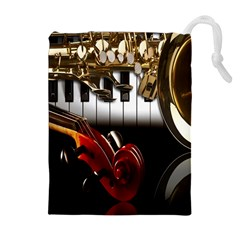 Classical Music Instruments Drawstring Pouches (Extra Large)