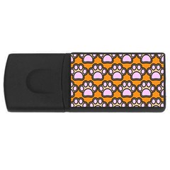 Dog Foot Orange Soles Feet USB Flash Drive Rectangular (4 GB)