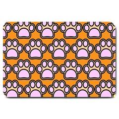 Dog Foot Orange Soles Feet Large Doormat