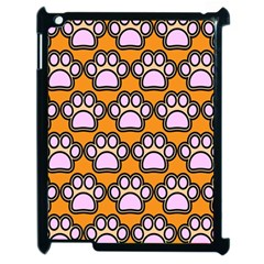 Dog Foot Orange Soles Feet Apple iPad 2 Case (Black)