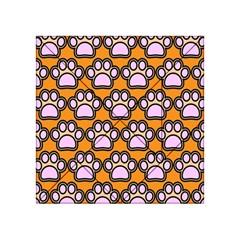 Dog Foot Orange Soles Feet Acrylic Tangram Puzzle (4  x 4 )
