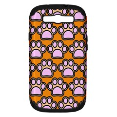 Dog Foot Orange Soles Feet Samsung Galaxy S III Hardshell Case (PC+Silicone)