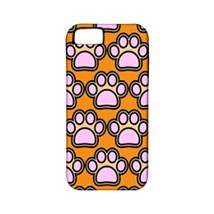 Dog Foot Orange Soles Feet Apple iPhone 5 Classic Hardshell Case (PC+Silicone)