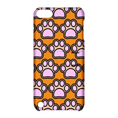 Dog Foot Orange Soles Feet Apple Ipod Touch 5 Hardshell Case With Stand