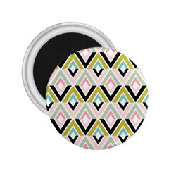 Chevron Pink Green Copy 2.25  Magnets