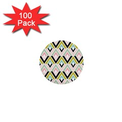Chevron Pink Green Copy 1  Mini Buttons (100 pack)