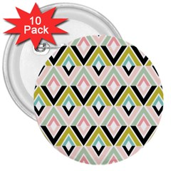 Chevron Pink Green Copy 3  Buttons (10 pack)