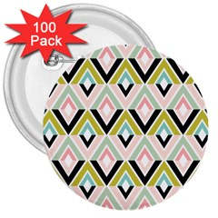 Chevron Pink Green Copy 3  Buttons (100 pack)