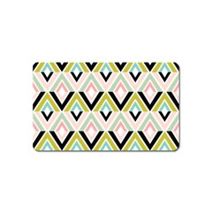 Chevron Pink Green Copy Magnet (Name Card)