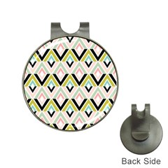 Chevron Pink Green Copy Hat Clips with Golf Markers