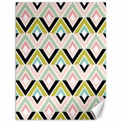Chevron Pink Green Copy Canvas 18  x 24