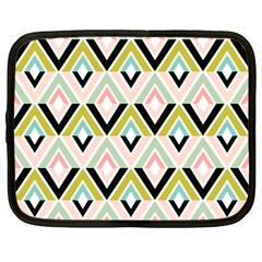 Chevron Pink Green Copy Netbook Case (Large)