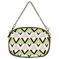 Chevron Pink Green Copy Chain Purses (One Side)