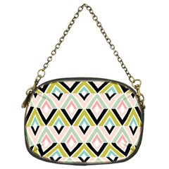 Chevron Pink Green Copy Chain Purses (Two Sides)