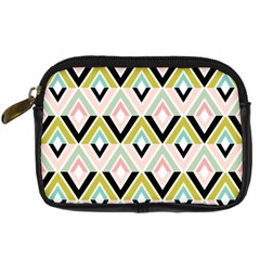 Chevron Pink Green Copy Digital Camera Cases