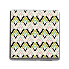 Chevron Pink Green Copy Memory Card Reader (Square)