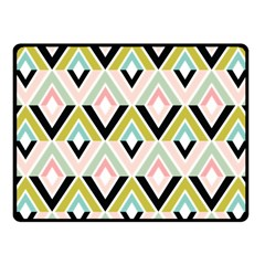 Chevron Pink Green Copy Fleece Blanket (Small)