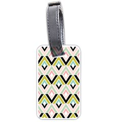 Chevron Pink Green Copy Luggage Tags (Two Sides)