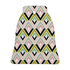Chevron Pink Green Copy Bell Ornament (2 Sides)
