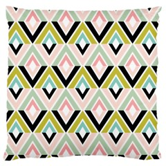 Chevron Pink Green Copy Large Cushion Case (Two Sides)