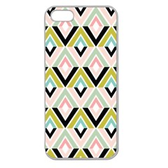 Chevron Pink Green Copy Apple Seamless iPhone 5 Case (Clear)