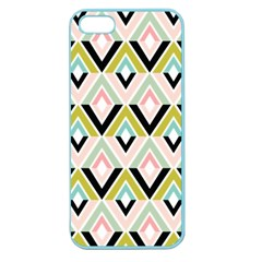 Chevron Pink Green Copy Apple Seamless iPhone 5 Case (Color)