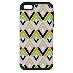 Chevron Pink Green Copy Apple iPhone 5 Hardshell Case (PC+Silicone)