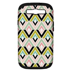 Chevron Pink Green Copy Samsung Galaxy S III Hardshell Case (PC+Silicone)