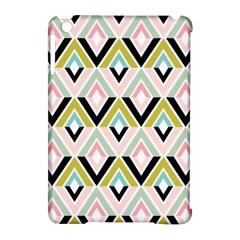 Chevron Pink Green Copy Apple iPad Mini Hardshell Case (Compatible with Smart Cover)
