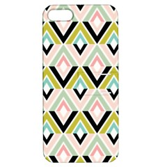 Chevron Pink Green Copy Apple iPhone 5 Hardshell Case with Stand
