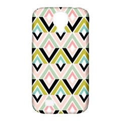 Chevron Pink Green Copy Samsung Galaxy S4 Classic Hardshell Case (PC+Silicone)