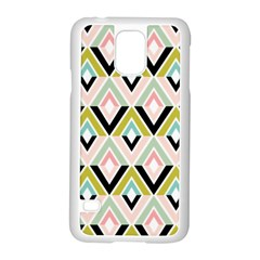 Chevron Pink Green Copy Samsung Galaxy S5 Case (White)