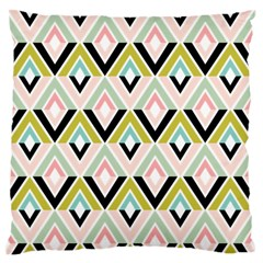 Chevron Pink Green Copy Large Flano Cushion Case (One Side)
