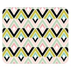 Chevron Pink Green Copy Double Sided Flano Blanket (Small)