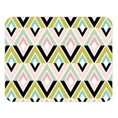Chevron Pink Green Copy Double Sided Flano Blanket (Large)