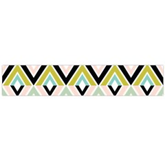 Chevron Pink Green Copy Flano Scarf (Large)