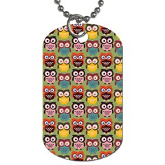 Eye Owl Colorful Cute Animals Bird Copy Dog Tag (One Side)