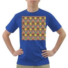 Eye Owl Colorful Cute Animals Bird Copy Dark T-Shirt