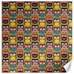 Eye Owl Colorful Cute Animals Bird Copy Canvas 16  x 16