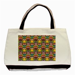 Eye Owl Colorful Cute Animals Bird Copy Basic Tote Bag (Two Sides)
