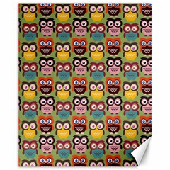 Eye Owl Colorful Cute Animals Bird Copy Canvas 11  x 14