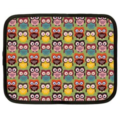 Eye Owl Colorful Cute Animals Bird Copy Netbook Case (Large)