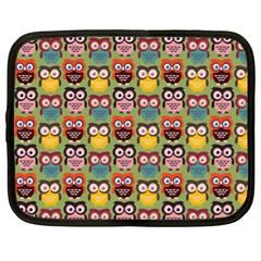 Eye Owl Colorful Cute Animals Bird Copy Netbook Case (XL)