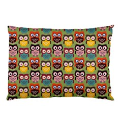 Eye Owl Colorful Cute Animals Bird Copy Pillow Case (Two Sides)
