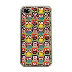 Eye Owl Colorful Cute Animals Bird Copy Apple iPhone 4 Case (Clear)