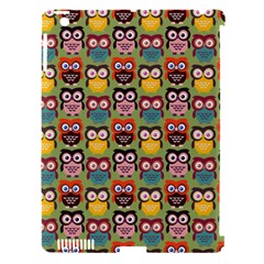 Eye Owl Colorful Cute Animals Bird Copy Apple iPad 3/4 Hardshell Case (Compatible with Smart Cover)