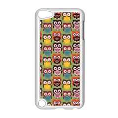 Eye Owl Colorful Cute Animals Bird Copy Apple iPod Touch 5 Case (White)